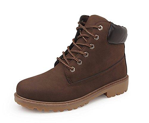 Honeystore Unisex-Erwachsene Stiefeletten | Profilsohle Schnürer | Worker Boots | Gefüttert & Ungefüttert Braun 44CN Weiße Männer Gucci-schuhe