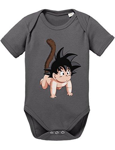 Gohan Baby Kostüm - Son Goku Baby Strampler Body Dragon Master Son Ball Vegeta Turtle Roshi Db, Größe:56;Farbe:Grau