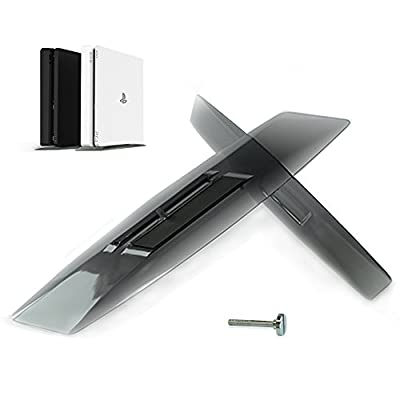 SMOS PS4 Slim Vertical Stand Perfectly Compatible with Playstation 4 Slim as Official, Easy Assemble, Made of Translucent Acrylic, Elegant Integration from SMOS