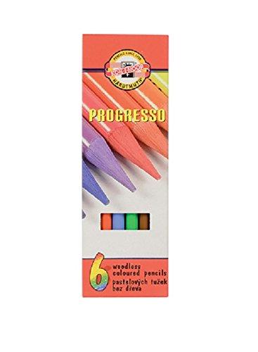 Koh-I Noor 8755 Set von 6Progresso Farbige Bleistift