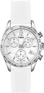 Reloj Timex Classic de cuarzo para mujer con correa de silicona, color blanco de Timex