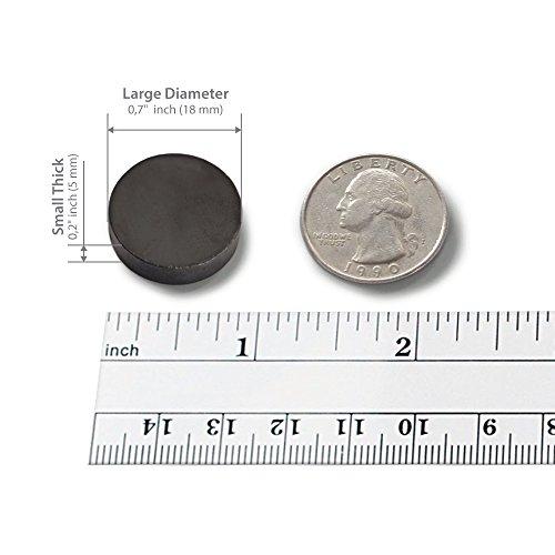 X bet MAGNET ™   Imanes industriales de cerámica   Disco redondo de 18 mm   Imanes de ferrite Masa para la artesianias  ciencias y aficiones – 100 piezas en caja!