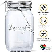 SONNENGLAS Solarleuchte, Glas, Transparent, Classic (1000ml)