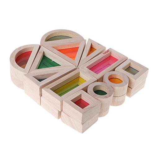 Acryl Holz Bausteine   Baby Pädagogisches Spielzeug Montessori Kinder Spielzeug ()