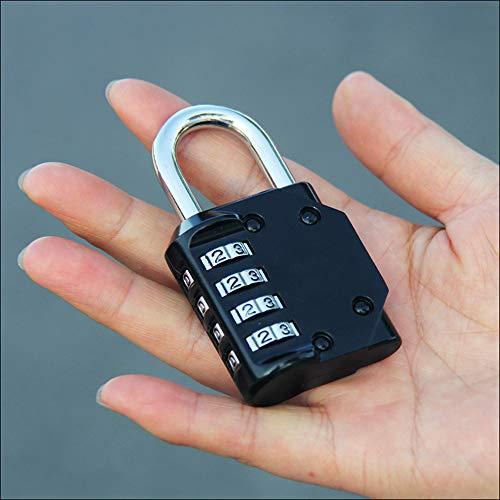 Candado de combinaci/ón Astarye 2 paquete con 5 d/ígitos suave Dial Resetable Anti moho sistema de candado para el locker de la escuela al aire libre equipaje