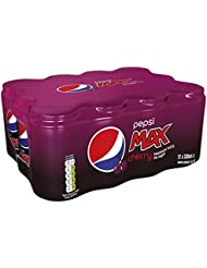 Pepsi Max Cherry Cans, 12 x 330 ml