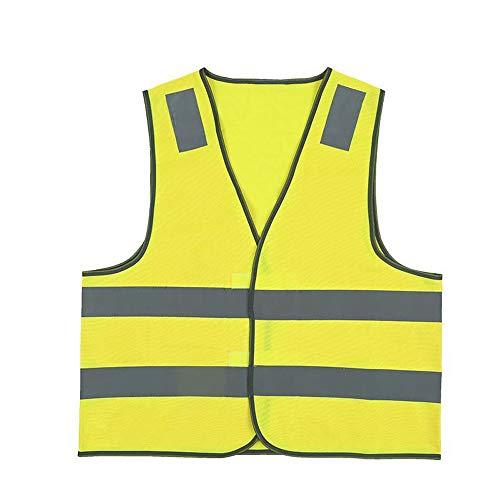 L, Jaune Gilets de S/écurit/é Gilet Jaune Fluorescent R/éfl/échissant Hommes et Femmes Gilet de S/écurit/é Haute Visibilit/é pour La Course /à Pied Le V/élo La Moto Marche et Travail