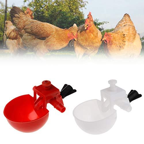 Haven shop - 5 Vasos de Agua para Aves de Corral, Cuenco para Bebidas, Aves de Corral, Taza de alimentación automática de Agua de plástico para pájaros y pájaros