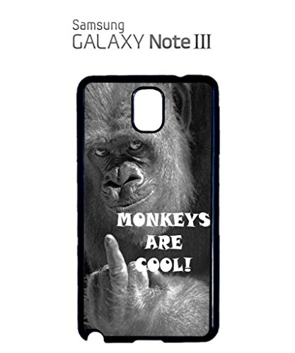Monkeys are Cool Funny Hipster Swag Mobile Phone Case Back Cover Coque Housse Etui Noir Blanc pour Samsung Note 2 Black Noir