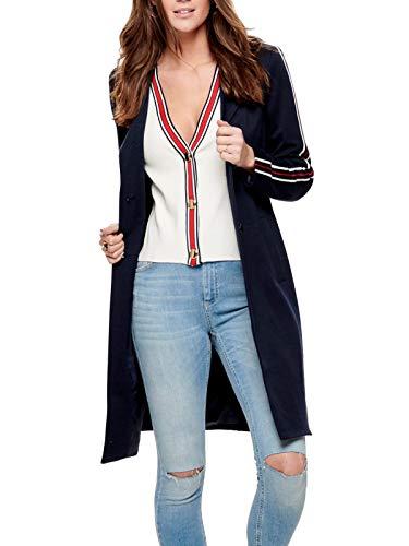 ONLY Damen Mantel onlLISELLE Ruby Loose Coat OTW Blau (Night Sky Detail:Melange), 42 (Herstellergröße:XL)