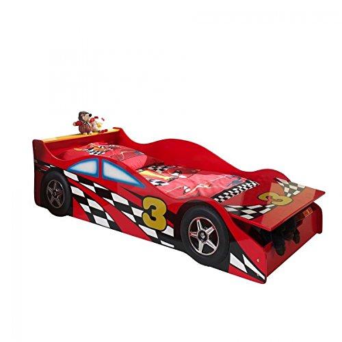 #'Autobett sctdrc Toddler Race Kinderbett MDF Rot 175x 78x 48cm#