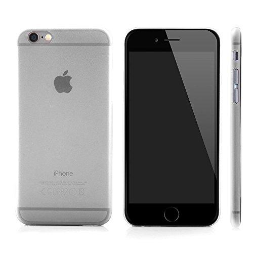 """licaso® iPhone 6 6S 4,7"""" Slim Case Ultra dünne Schützhülle aus Polycarbonat iPhone Hülle schwarz transparent iPhone Case (schwarz) weiß"""