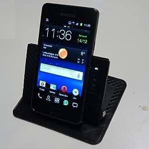 MQ Anti Rutschmatte mit Winkelhalter für Navi Handy Pad Haft-Pad Antirutsch-Pad schwarz