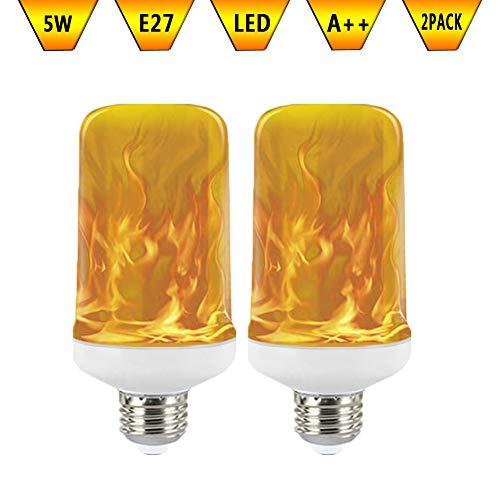 KAWER Bombilla de llama LED E27 5W Inteligente Luz con 3 Modos...
