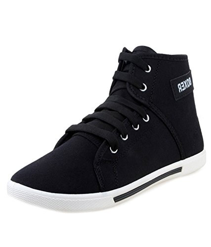 Weldone BXR Black Canvas Sneakers