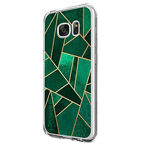 14chvier kompatibel mit Galaxy S6 Hülle,Galaxy S6 Edge / S6 Edge Plus Schutzhülle Silicone Handyhülle Soft Marmor Cover Rückschale Schutz Shockproof Handytasche (2, Galaxy S6) (Samsung Galaxy 2 Case)