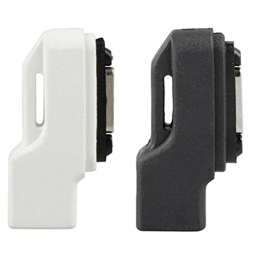 perfk 2 X Cavo Adattatore da Micro USB A Magnetico Caricabatterie per Sony Xperia Z1 Z2 Z3 Compatto Nero + Bianco