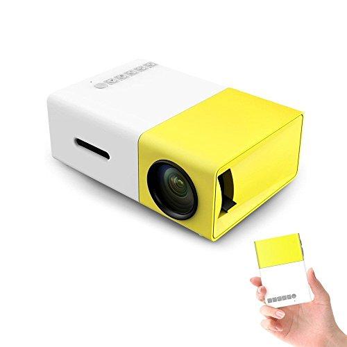 YG 300 LCD 1080P LED 3D Mini Projektor Beamer Heimkino Theater USB SD HDMI Tragbar für Video Movie Game Home Entertainment