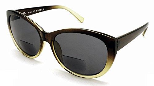 Samba Shades Sonne Leser Kunststoffrahmen Bifokale Sonnenbrillen Rahmen Linsen +2.25