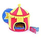 HAYPIGSMeerschweinchen Zubehoerund Spielzeug- HIDEY HUTaus Fleece im Zirkus-Look -Nagerhaus - Hamster Haus- Meerschweinchen Haus-Kleintier Haus