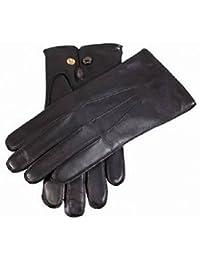 """Black Mendip Leather Dress Gloves by Dents"""