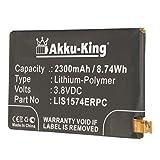 Akku-King Akku ersetzt Sony LIS1574ERPC - Li-Polymer 2300mAh - für Xperia A2, E4, E4g, Z2 compact, Z2 Mini, Altair Maki, E2003, E2006, E2033