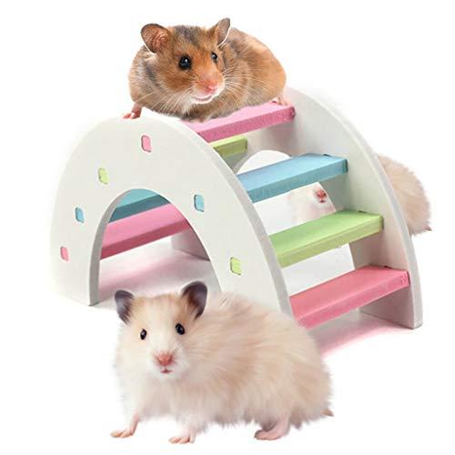 Hamsterspielzeug Spielzeug, Regenbogenbrücke, Meerschweinchen, Hamster, Holz, Spielzeug für Körpertraining