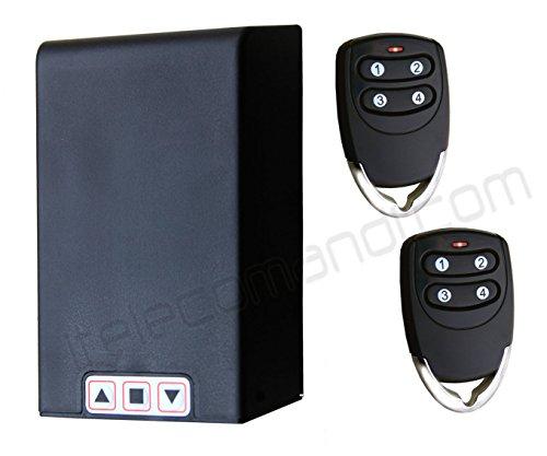 Kit centralina universale per serrande TM5886 con telecomandi - Per avvolgibili e tapparelle, funziona su qualsiasi serranda fino A 1HP, ricevitore e telecomandi compresi, possibilità di collegare fotocellule o lampeggiante