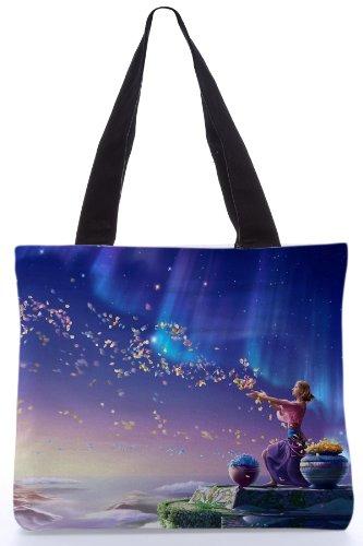 Snoogg Women's Tote Bag (Blue-RPC_226_Bag135145)