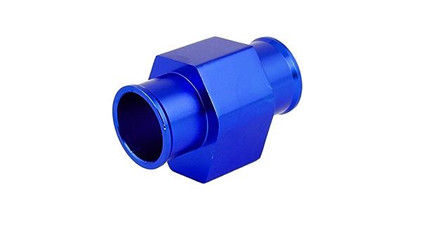 36mm 1 4 Durchmesser Wassertemperatur Kühlerschlauch Verbindungs Rohr Blau Mit 2 Stück Schellen Auto