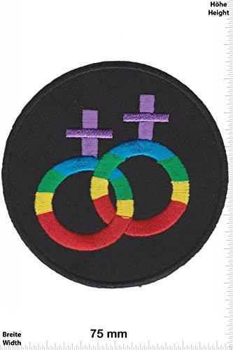 Patch - Lesbisch - Lesbe - homosexuel - Fun - Fun Patch - Adult - Weste - Patches - Aufnäher Embleme Bügelbild Aufbügler