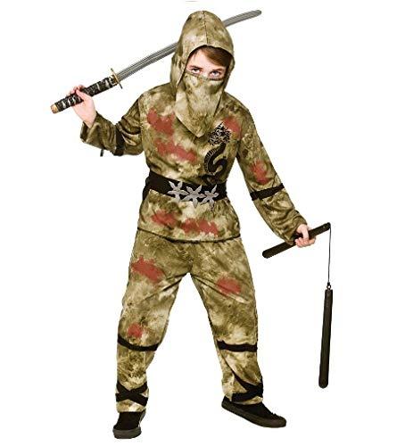 Kids Boys Zombie Ninja Halloween Fancy Dress -
