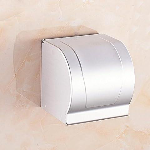 SSBY Caja de papel higiénico, estante de toalla de baño papel titular, sostenedor de papel higiénico, bandeja de baño de aluminio de espacio multifuncional, impermeable y a prueba de polvo, con cenicero , Tissue box