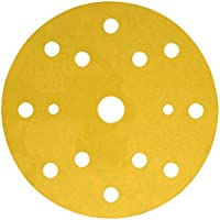 3M Hookit Disco Soporte de Papel 255P, 150 mm, Con 15 agujeros (LD861A), 100/Caja
