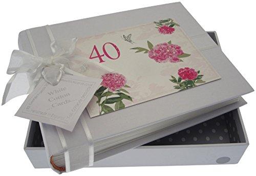 Bianco Carte cotone Souvenir Album 40 ° anniversario dell