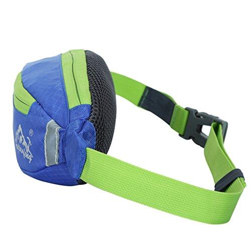 Sport Hüfttasche, Wasserdicht Unisex, Brusttasche für Radfahren, Bergsteigen, Wandern, Jogging Königsblau