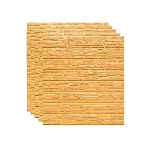 JQ-Wandtattoos 5 stück tapete Selbstklebende Wand Panel 3D künstliche wasserdichte schaumziegel Rock Streifen tapete tapete Dekoration (29 quadratmeter 6 Farben) (Color : E) - Keramische Wand-panel