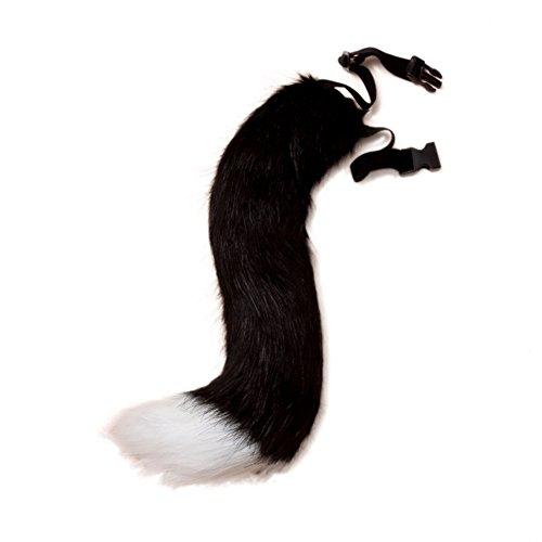 VLUNT Halloween Kostüme Kunstpelz Fuchsschwanz kann Schwanz eingestellt - Katzen Schwanz Kostüm