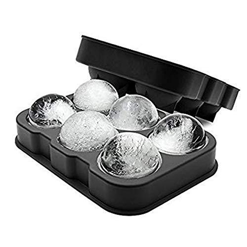 FUKIPRO -  XXL-Eiskugelform für 6 Eiskugeln mit 4,5 cm Durchmesser, schwarz