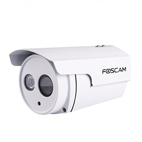 Foscam FI9803EP Telecamera IP da Esterno, HD, 1 Megapixel, POE Funzione P2P, 4 mm, 70 Gradi, Bianco
