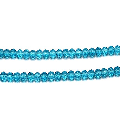 Beadsnfashion Jewellery Making Faceted Crystal Roundell Beads 4x3 mm, 280 pcs