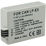 2x Batterie pour Canon LP-E5 EOS 450D 500D 1000D Rebel
