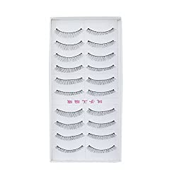 MagiDeal 10 Pairs Black Sparse False Eyelashes Eye Lashes Extension Make up