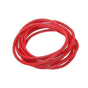 Gazechimp Mini-Haargummis, Gummi, Farbwahl, 24 Stück – Rot