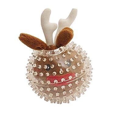 Rosewood Spikey Reindeer Bouncy Blitzen Ball for Dogs