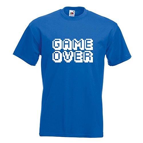 KIWISTAR - GAME OVER Pixel Schrift T-Shirt in 15 verschiedenen Farben - Herren Funshirt bedruckt Design Sprüche Spruch Motive Oberteil Baumwolle Print Größe S M L XL XXL Royal