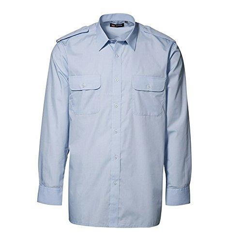 ID Herren Classic Uniform-Hemd, langärmlig (39/40) (Hellblau) (Uniform Pilot Shirt)