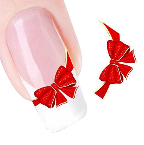 Tonsee® L'eau transfert diapositive Sticker Decal Nail Art Tips pieds