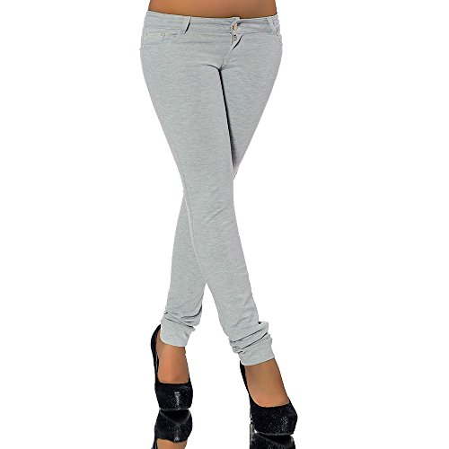 G701 jean pour femme, look tube leggings treggings skinny pantalon leggings hauteur Gris - Gris