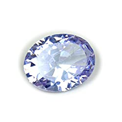 55Carat Cubic Zircon Stone 4.65 Ratti Oval Jarkan Loose Gemstone Purple